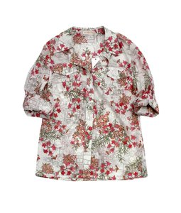 Tory Burch White Botanical Garden Print Top
