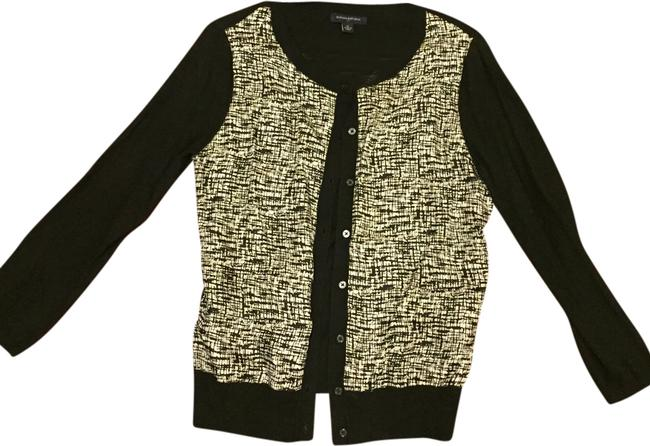 Preload https://item4.tradesy.com/images/banana-republic-black-and-tan-cardigan-size-8-m-1997103-0-0.jpg?width=400&height=650