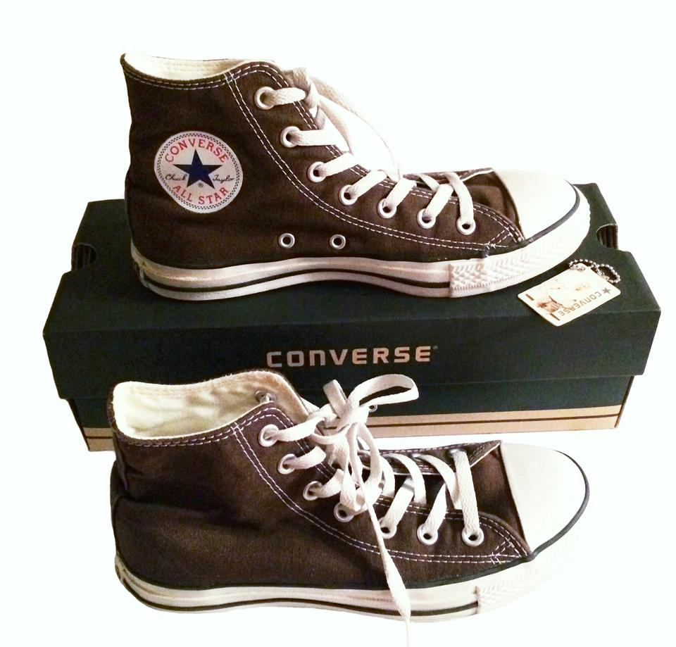 6af79883df56 Converse Chocolate Brown Hi Tops Chuck Taylor All Stars Sneakers ...