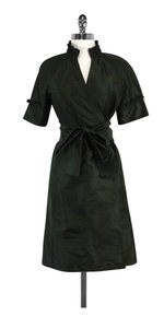 Diane von Furstenberg short dress Green Short Sleeve Wrap on Tradesy