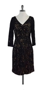 Sue Wong short dress Black Nude Lace Overlay on Tradesy