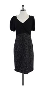 Rebecca Taylor short dress Black Grey Cheetah Print Sheath on Tradesy
