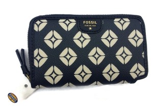 Fossil Mimi Signature Multi Cell Phone Wallet Black /White SWL1105005