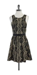 Jay Godfrey short dress Black Tan Snakeskin Print Sleeveless on Tradesy