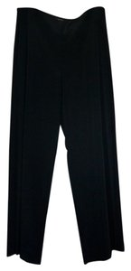 Lafayette 148 New York Crepe Evening Wide Leg Pants Black