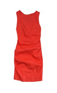 Nicole Miller short dress Coral Linen Ruched on Tradesy