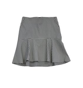 Theory White & Black Houndstooth Skirt