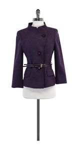 Escada Wool Button Up Belted Jacket