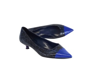 Studio Pollini Blue Black Leopard Print Pumps