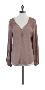 Rebecca Taylor Mauve Rose Gold Studded Top