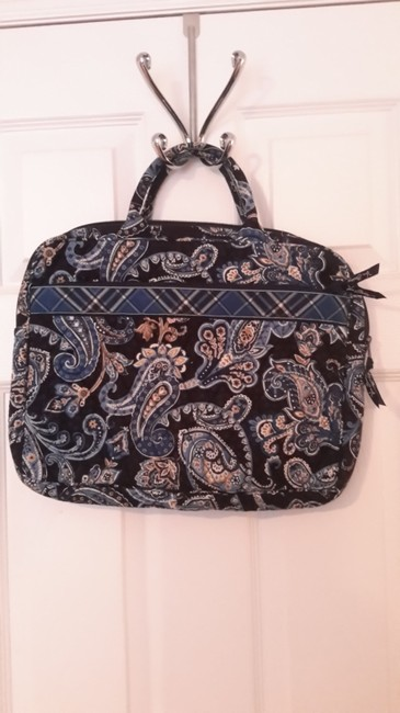 Item - Blue Bandana Quilted Fabric Laptop Bag