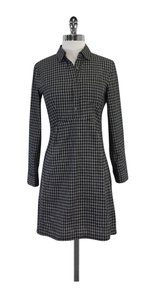 Steven Alan short dress Black & White Checkered Cotton Shirt on Tradesy