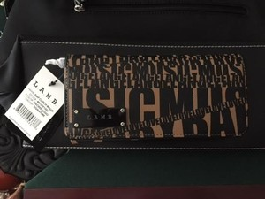 L.A.M.B. New w/tags.. L.A.M.B. Gwen Stefani Flap Clutch Wallet Stacked Logo $98