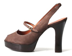 Delman Chocolate Brown Pumps
