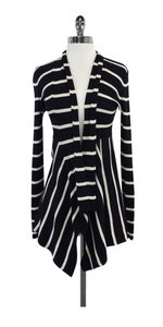 Autumn Cashmere Navy White Striped Cardigan