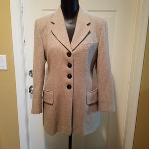 Escada Jacket Rabbit Coat Jacket Made In Italy Tan Blazer