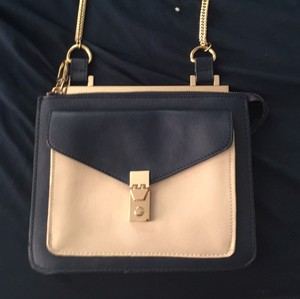 Zara Navy Cream Messenger Bag