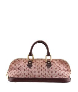 Louis Vuitton Satchel in burgundy and pink