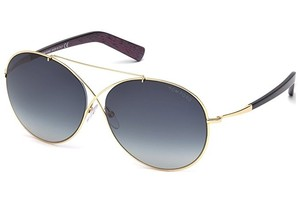 Tom Ford NEW Tom Ford Round Sunglasses TF394 Iva 28W Rose Gld/I. Purple