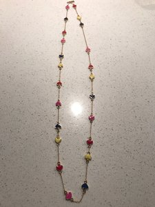 Kate Spade Kate Spade Long Chain Necklace with Multi Color Spades