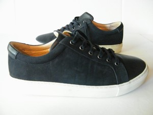 Alphakilo Suede Leather Navy Athletic