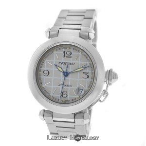 Cartier Midsize Unisex 35MM Cartier Pasha 2324 Stainless Steel Date