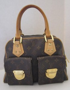 Louis Vuitton Manhattan Monogram Tote in BROWN