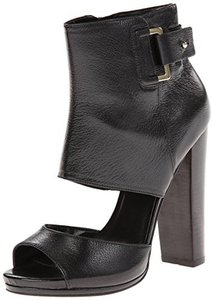 Nine West Leather Boot Open Toe Goth black Sandals