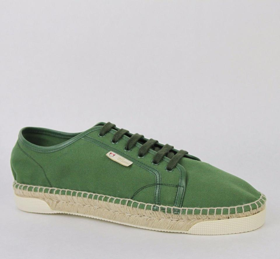 f9f3e50f8 Gucci Green Men's Canvas Straw Espadrille Lace Up 9.5 G/ Us 10.5 368487  3224 Shoes ...