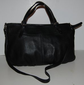 Furla Leather Handbag Satchel in black