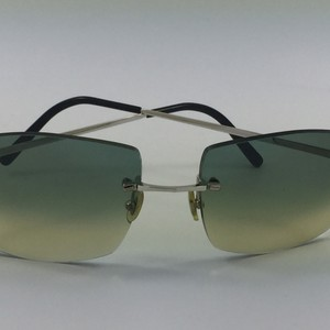 CARTIER GREEN LENS SUNGLASES 140 Cartier C Decor Green Sunglasses. 100%UV Gradient Manufacture France Unisex