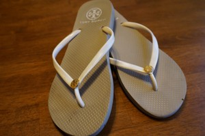 Tory Burch Flipflop Fashion Silver Sandals