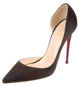 Christian Louboutin Metallic Pointed Toe Glitter So Kate Iriza Black Pumps