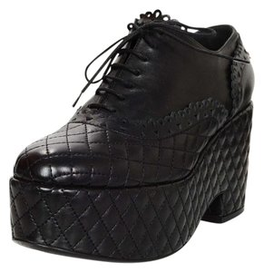 Chanel Quilted Platform Oxford Platforms