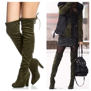 clmayfae Olive Boots