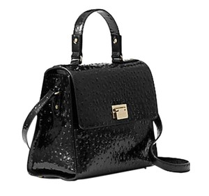 Kate Spade Patent Leather Satchel in Black