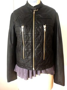 Marc by Marc Jacobs Leather Zippers Biker Leather Jacket