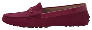 Tod's Moccasin Suede Slide On Loafer Pink Flats