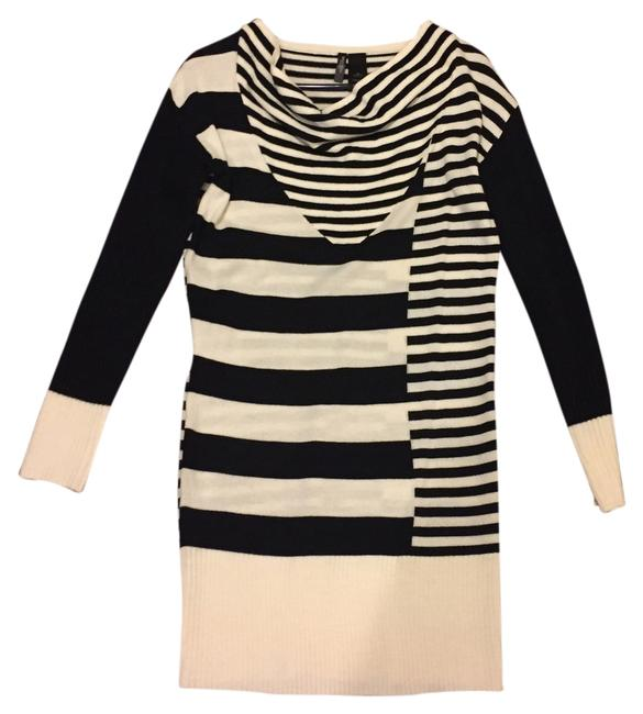 Preload https://item1.tradesy.com/images/bisou-bisou-black-and-off-white-stripes-above-knee-short-casual-dress-size-8-m-1997250-0-0.jpg?width=400&height=650