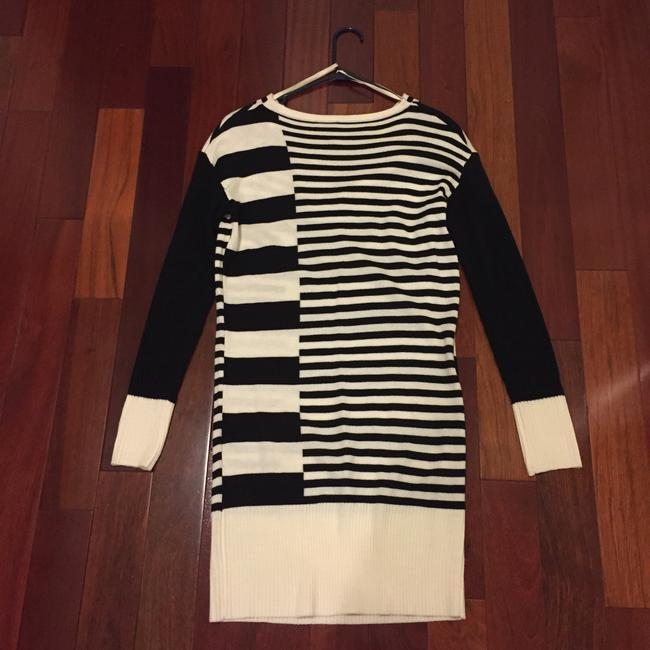 Bisou Bisou short dress Black and Off White Stripes on Tradesy