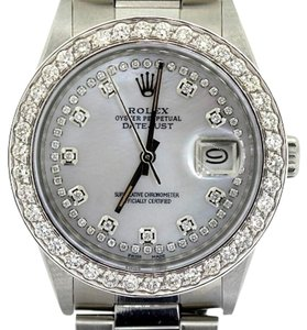 Rolex MEN'S ROLEX DATEJUST DIAMOND WATCH WITH ROLEX BOX & APPRAISAL