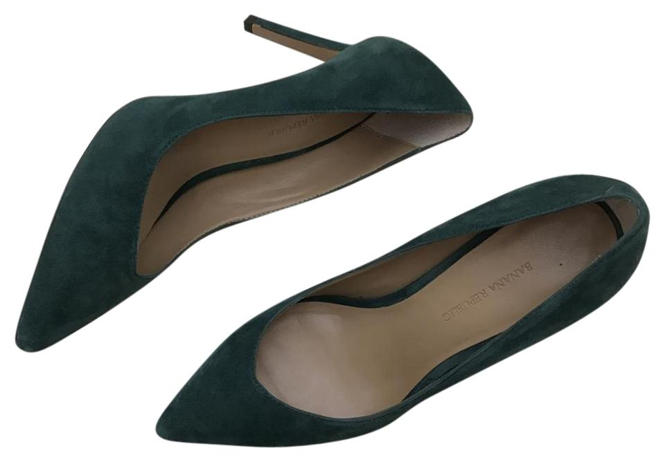 Banana Forest Republic Green Forest Banana Suede Pointed Toe Heels Pumps ca8d7d