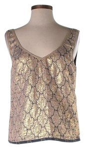 Prada Damask Sleeveless Top Gold