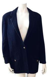The Knit Couture Wool Black Blazer