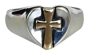 James Avery James Avery 14k Yellow Gold and Sterling Silver Ring (Retired)