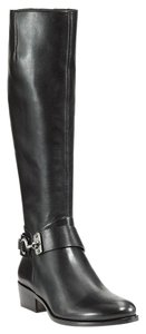 Via Spiga Leather Equestrian Knee High Black Boots