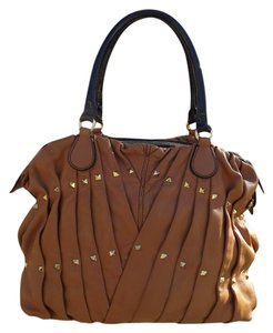 Valentino Maison Studded Tote in Brown