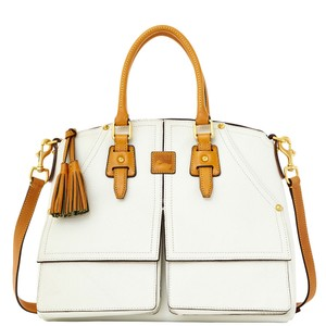 Dooney & Bourke Clayton Florentine Leather Satchel in White