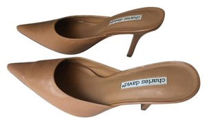 Charles David Neutral Tan Mules