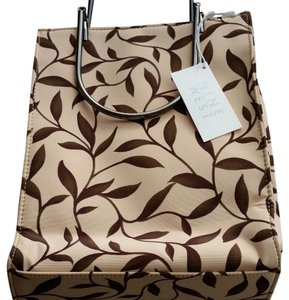 Nine West Small Small Vintage Tote in Butterscotch with autumn leaves pattern